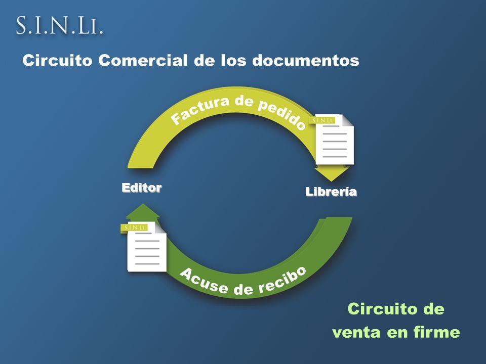 Circuito Comercial de los documentos Editor Librería Circuito de venta en firme