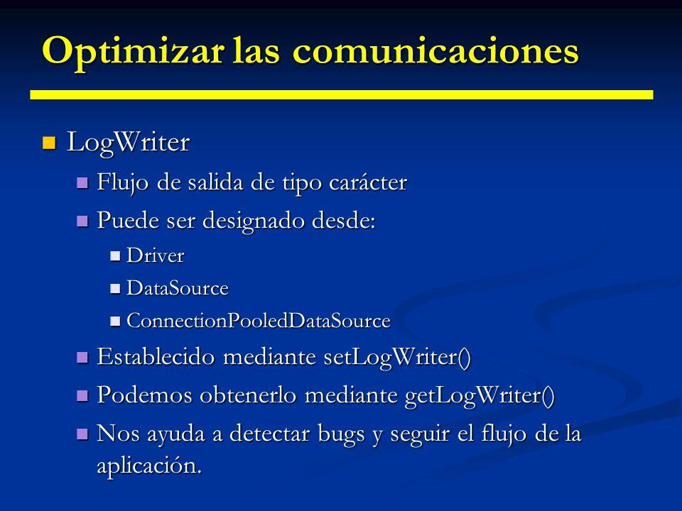 Almacenes de conexiones // Un PooledConnection proporciona un Connection especial // Un PooledConnection proporciona un Connection especial // que no