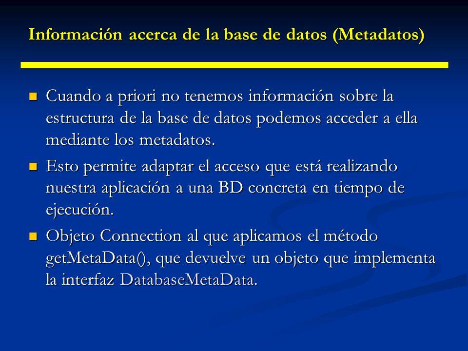 Insertando y borrando por programa Métodos para insertar filas sin utilizar SQL: Métodos para insertar filas sin utilizar SQL: moveToInsertRow(), muev