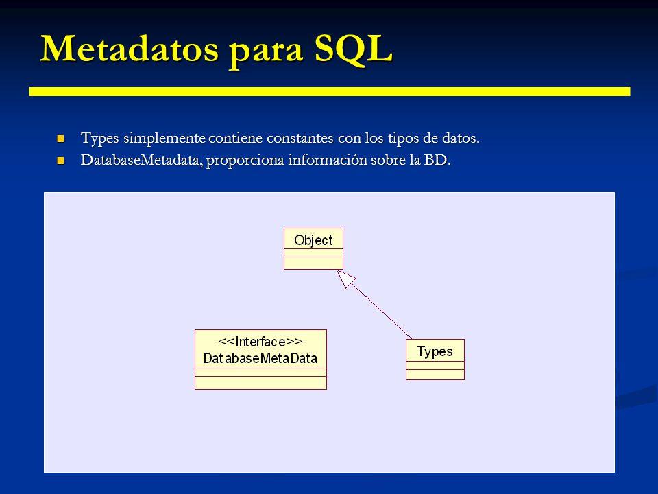 Información acerca de la base de datos (Metadatos) Cuando a priori no tenemos información sobre la estructura de la base de datos podemos acceder a el