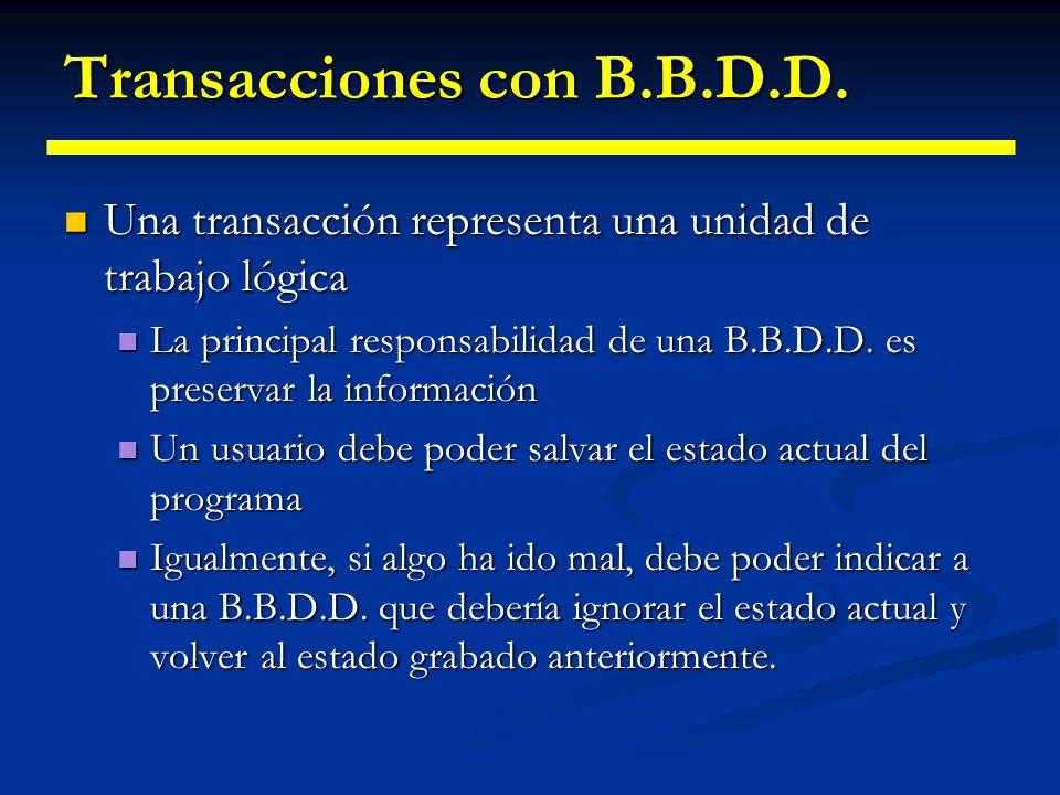Características incluye JDBC 2.0 (y II) Fuentes de datos como alternativa a getConnection. Fuentes de datos como alternativa a getConnection. Creación