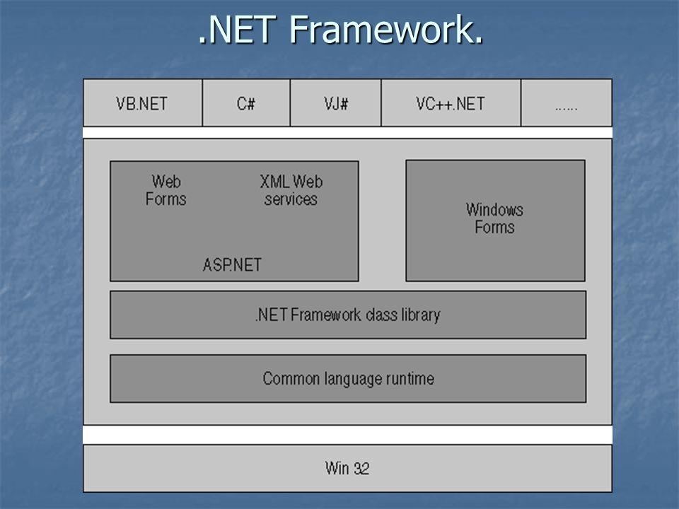 Common Language Runtime (CLR) Distribución transparente: El CLR ofrece la infraestructura necesaria para crear objetos remotos y acceder a ellos de manera completamente transparente a su localización real, tal y como si se encontrasen en la máquina que los utiliza.