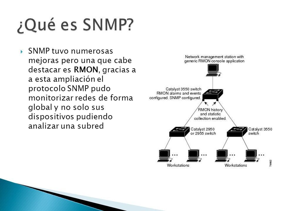 Dispositivos administrados: Elementos de una red que contienen un agente SNMP.