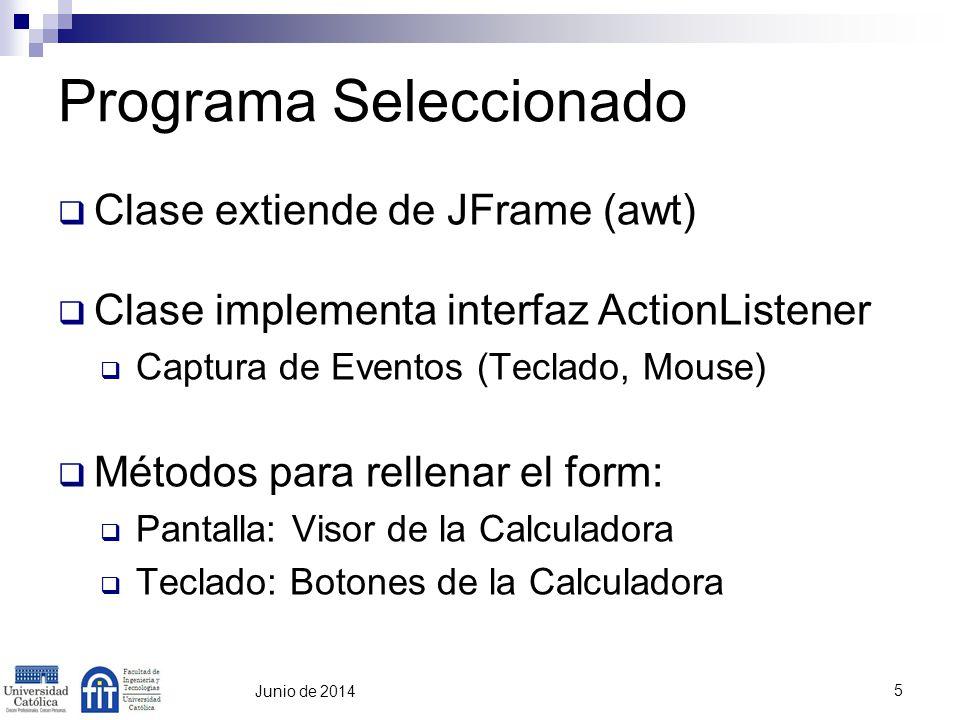 6 Junio de 2014 Cambios en el Programa Funcionalidad a Agregar Sqrt (Raíz Cuadrada) Bug a corregir Cambio de Signo no funciona correctamente Método para hacer visible el form (Show) está Deprecated.