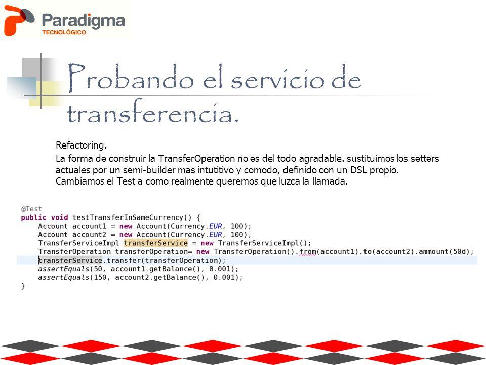 Refactoring. La forma de construir la TransferOperation no es del todo agradable.