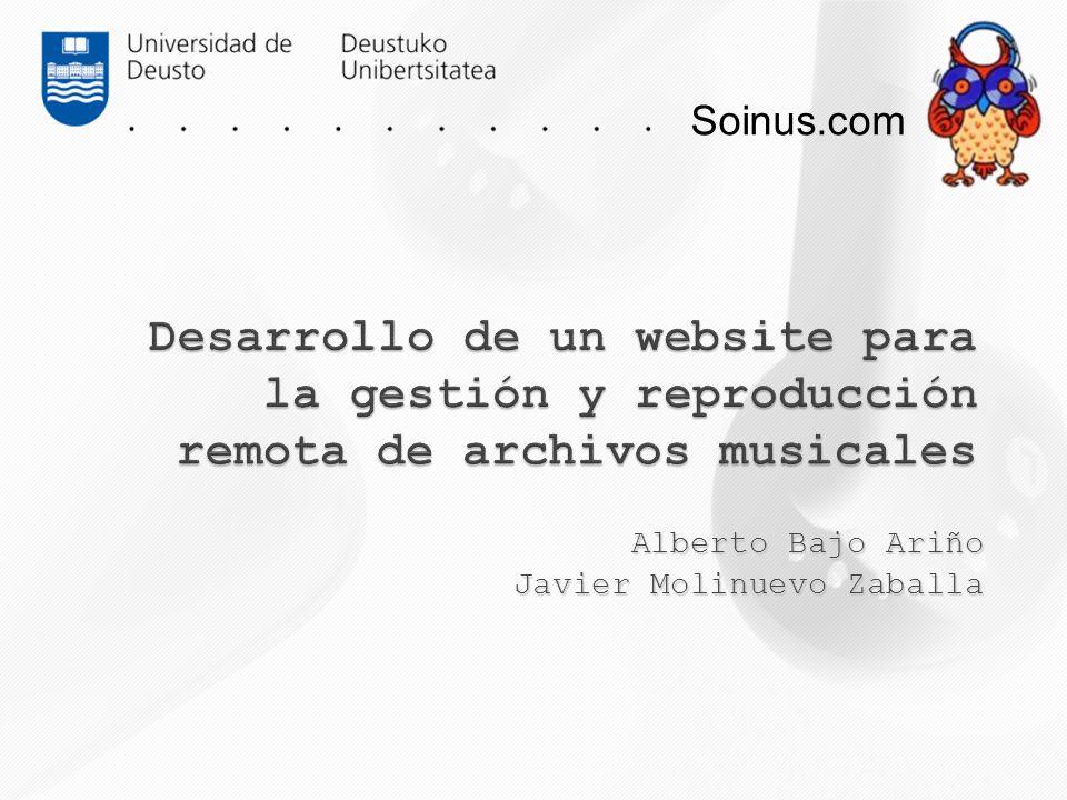Soinus.com Alberto Bajo Ariño Javier Molinuevo Zaballa