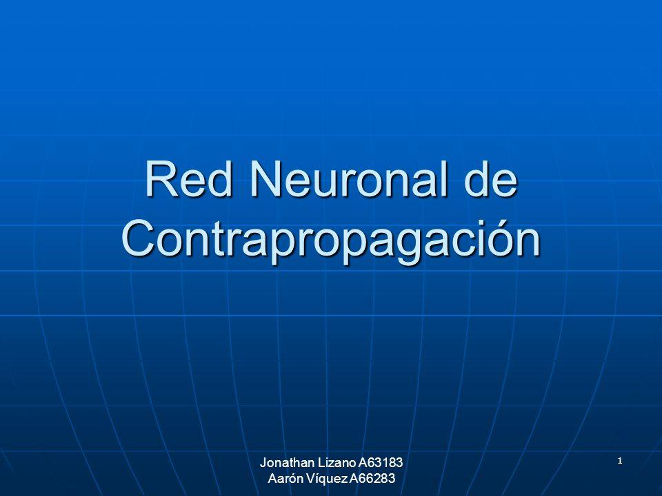 1 Jonathan Lizano A63183 Aarón Víquez A66283 Red Neuronal de Contrapropagación