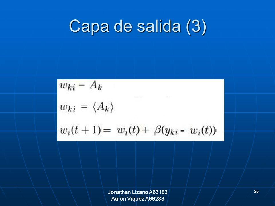 20 Capa de salida (3) Jonathan Lizano A63183 Aarón Víquez A66283