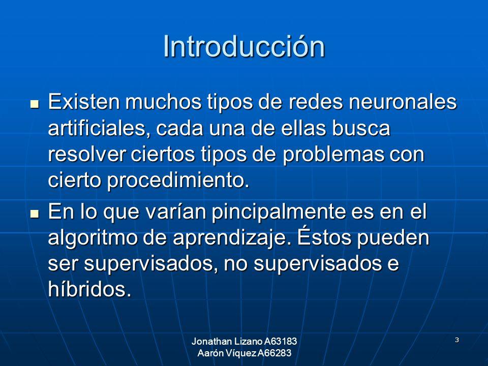 3 Introducción Existen muchos tipos de redes neuronales artificiales, cada una de ellas busca resolver ciertos tipos de problemas con cierto procedimi
