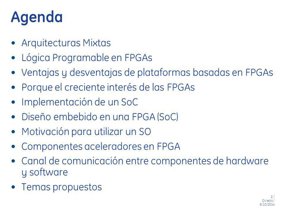 13 / Oviedo / 6/10/2014 SOC - Diseño Puramente HW uP I/O Connector Logic FPGA Board FPGA Ethernet Serial Port SDRAM GPIO FLASH