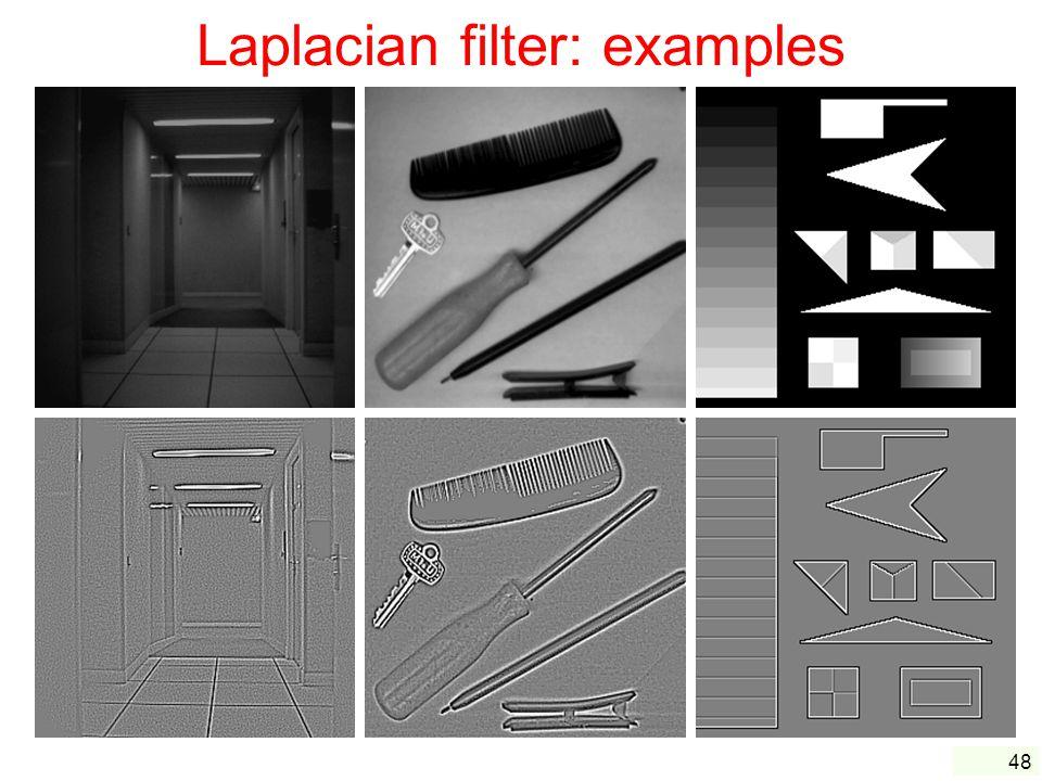 48 Laplacian filter: examples