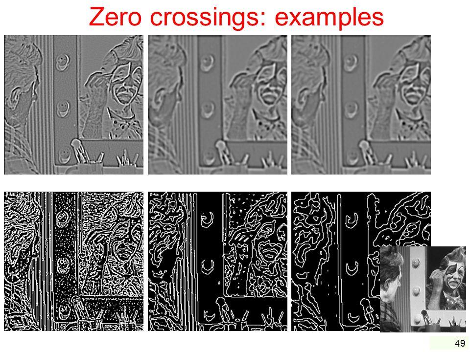 49 Zero crossings: examples =1 =2 =3