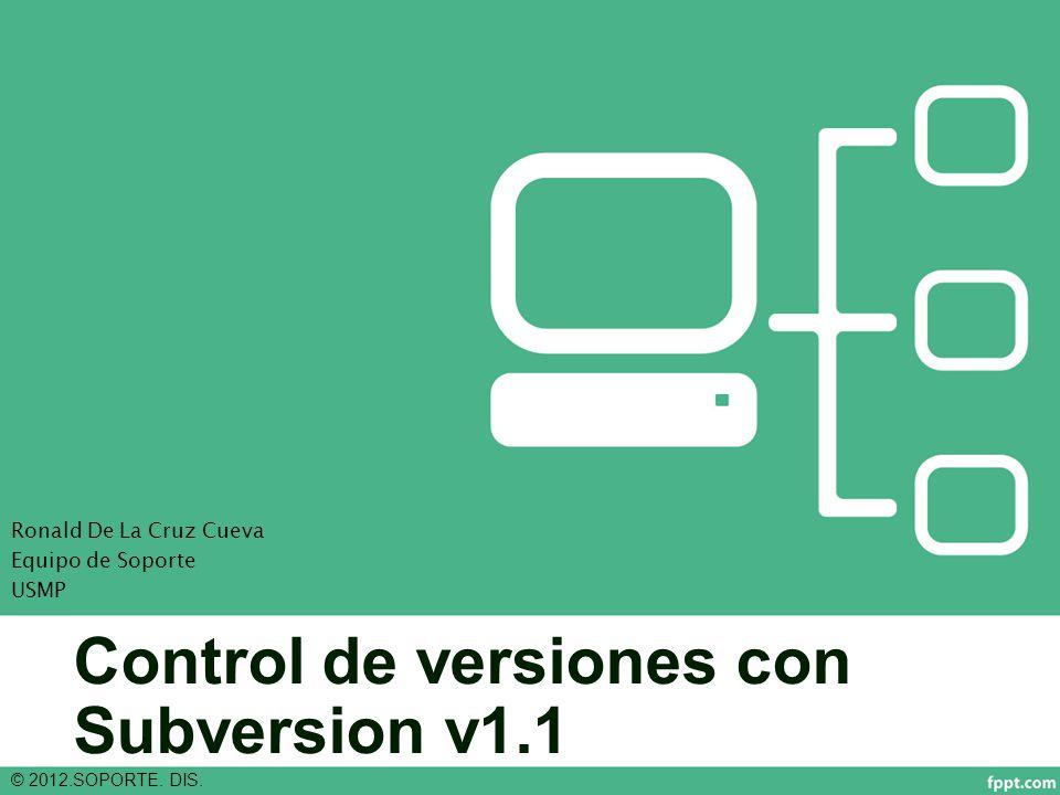 Control de versiones con Subversion v1.1 © 2012.SOPORTE.