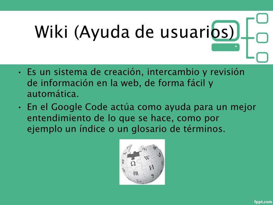 Es un sistema de creación, intercambio y revisión de información en la web, de forma fácil y automática.