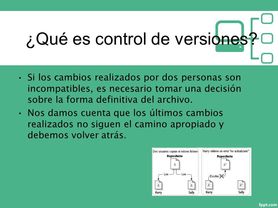¿Qué es control de versiones.