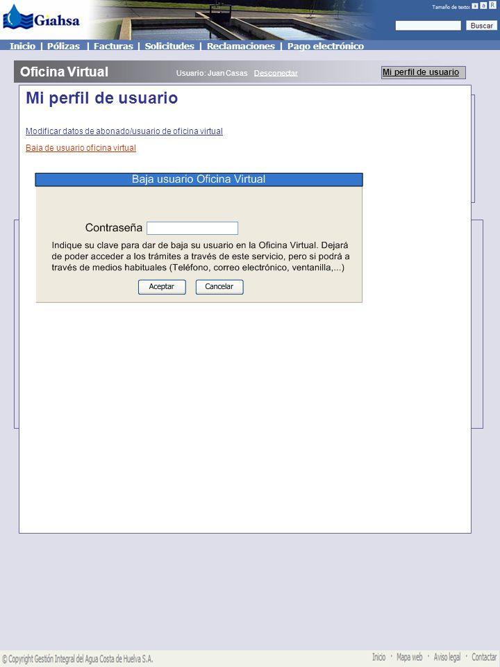 Mis pólizas Oficina Virtual Mi perfil de usuario Usuario: Juan Casas Desconectar Mis Reclamaciones Crear reclamación Inicio   Pólizas   Facturas   Solicitudes   Reclamaciones   Pago electrónico Mis reclamaciones