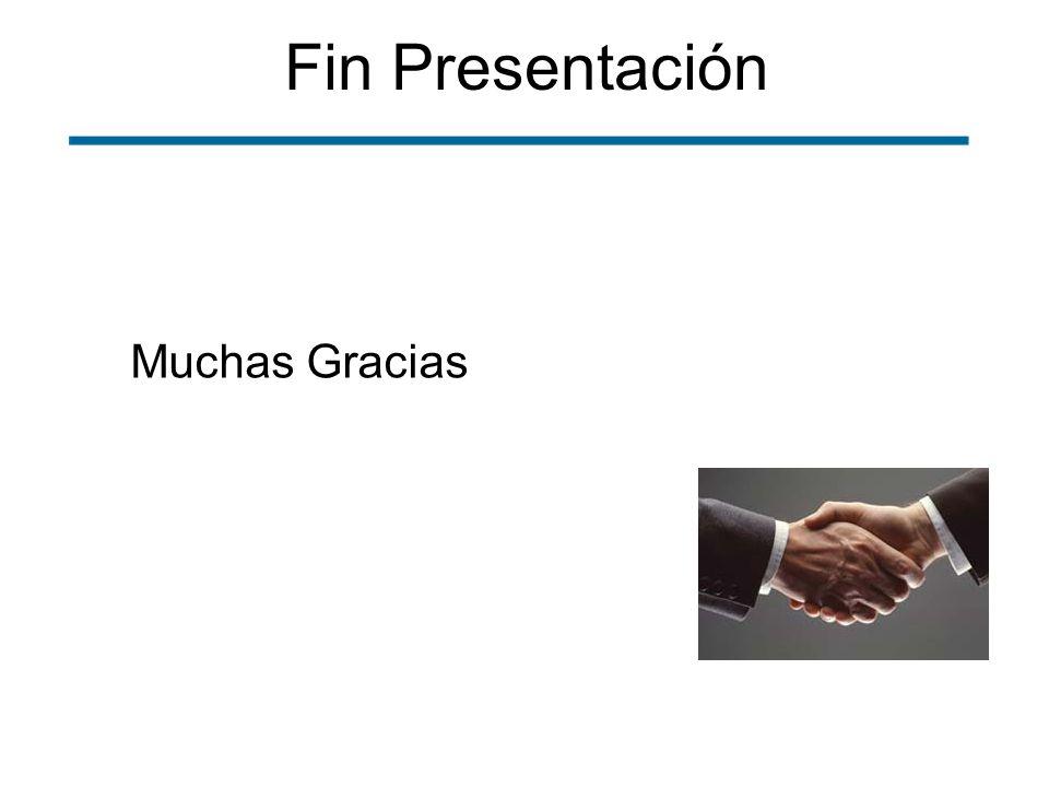 Fin Presentación Muchas Gracias