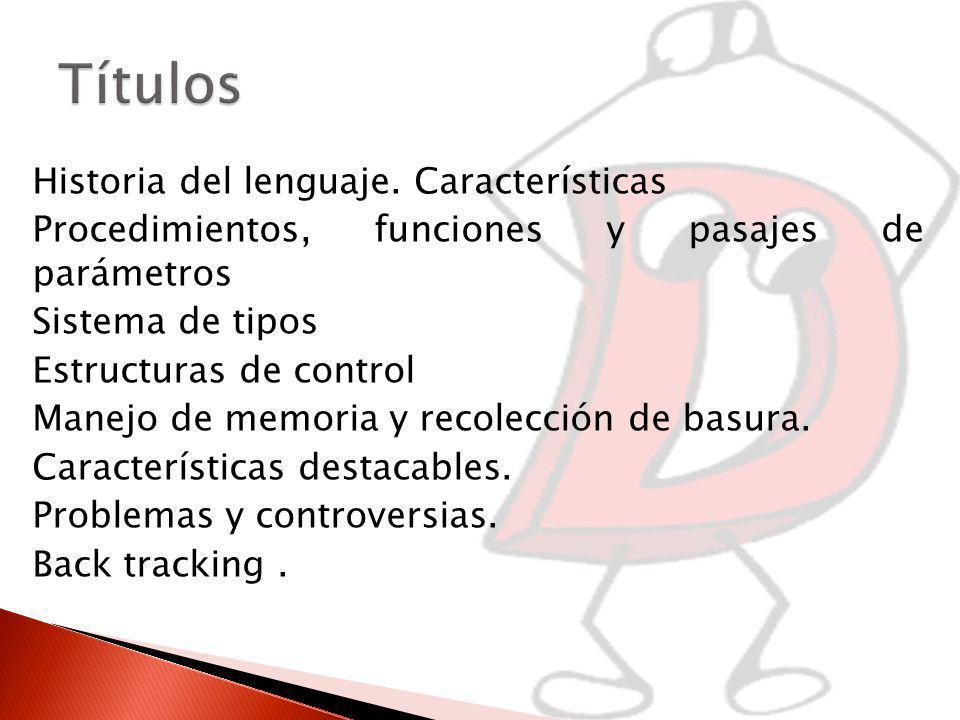 Historia del lenguaje.
