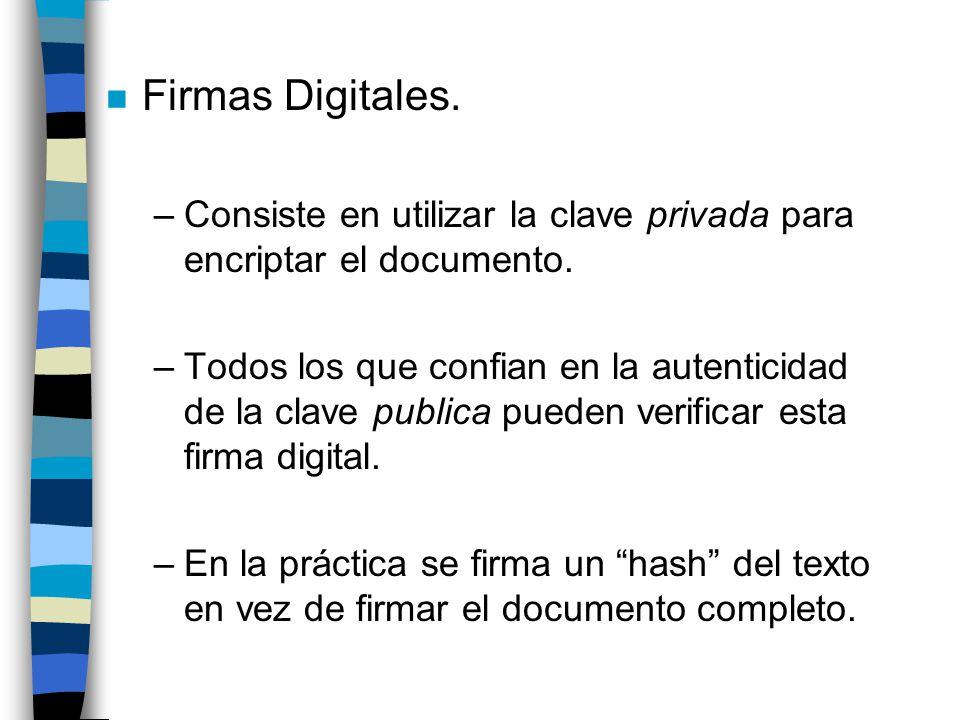 n Certificados Digitales Version Número serial del Certificado Certificador Periodo de Validez Id.
