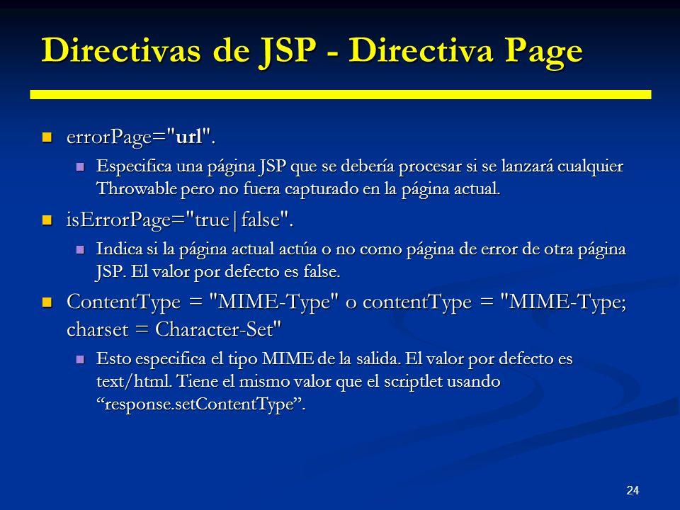 24 Directivas de JSP - Directiva Page errorPage=