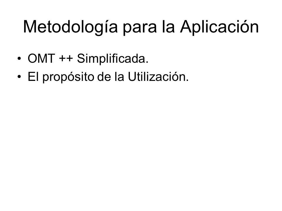 Metodología para la Aplicación OMT ++ Simplificada. El propósito de la Utilización.