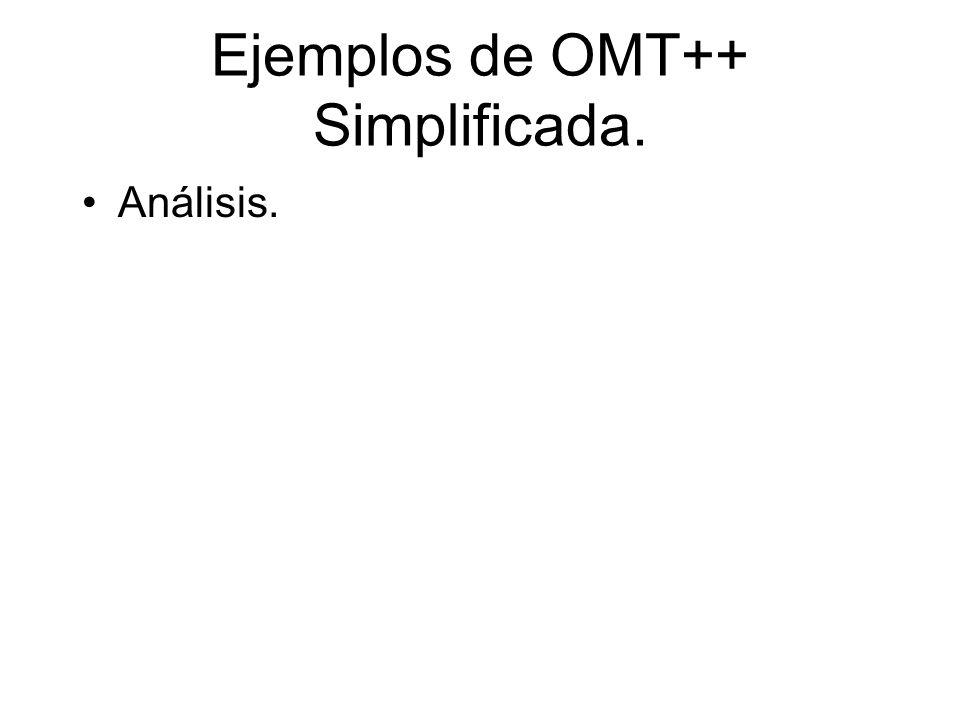 Ejemplos de OMT++ Simplificada. Análisis.