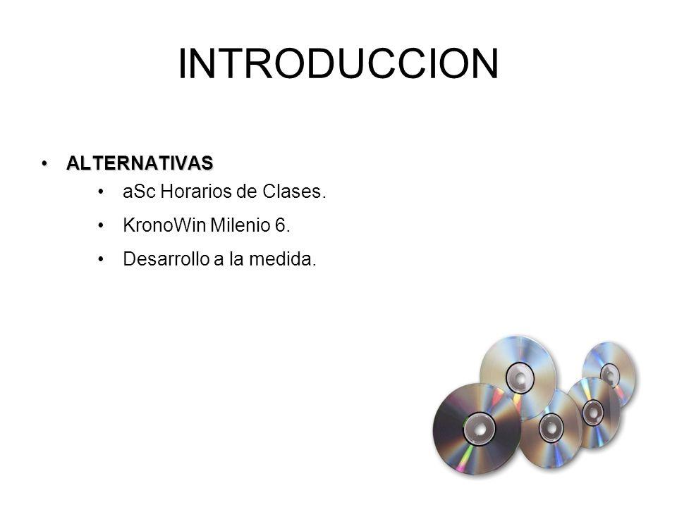 ALTERNATIVASALTERNATIVAS INTRODUCCION aSc Horarios de Clases.
