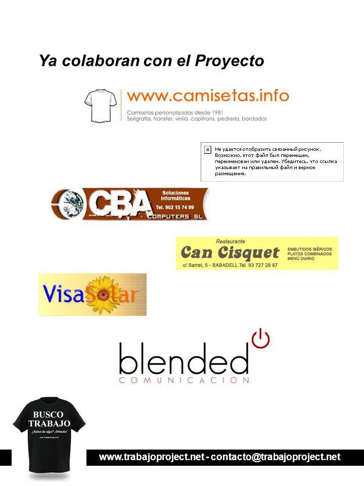 www.trabajoproject.net - contacto@trabajoproject.net Ya colaboran con el Proyecto