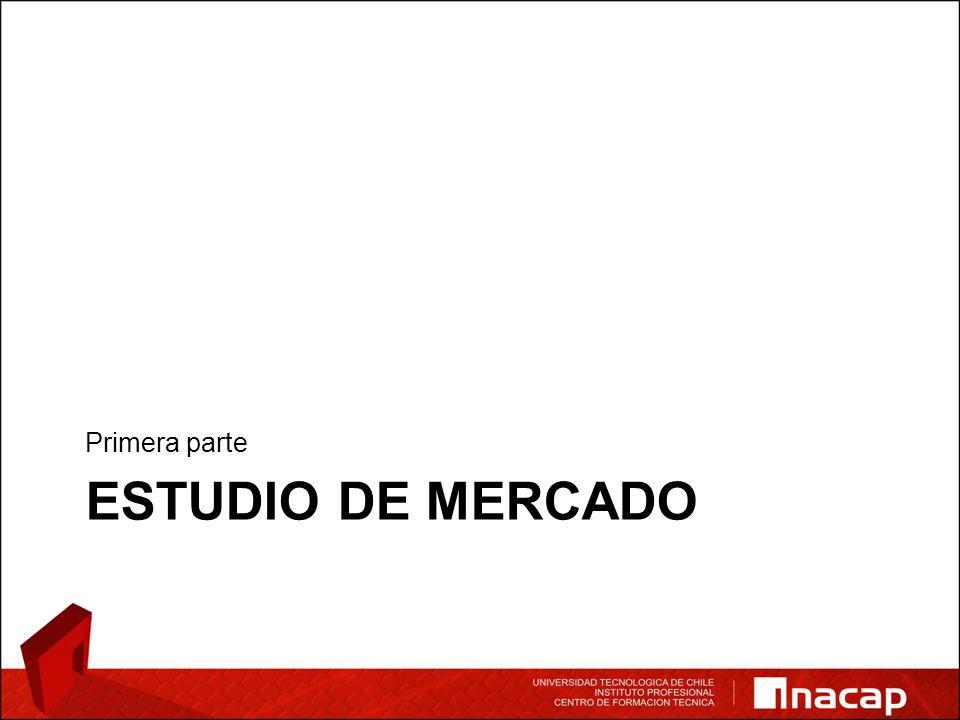 ESTUDIO DE MERCADO Primera parte