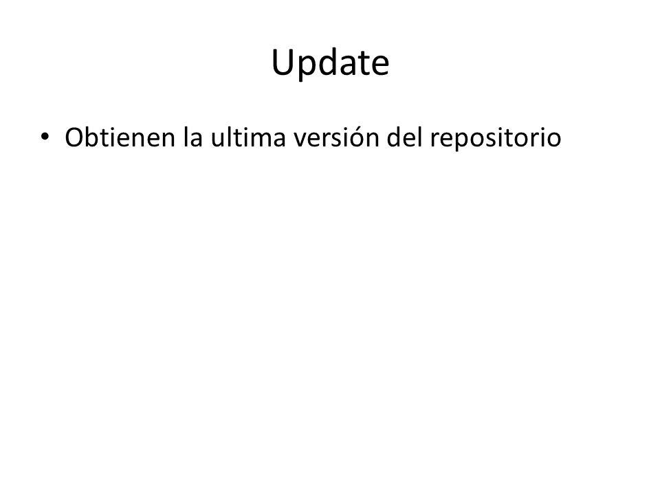 Update Obtienen la ultima versión del repositorio