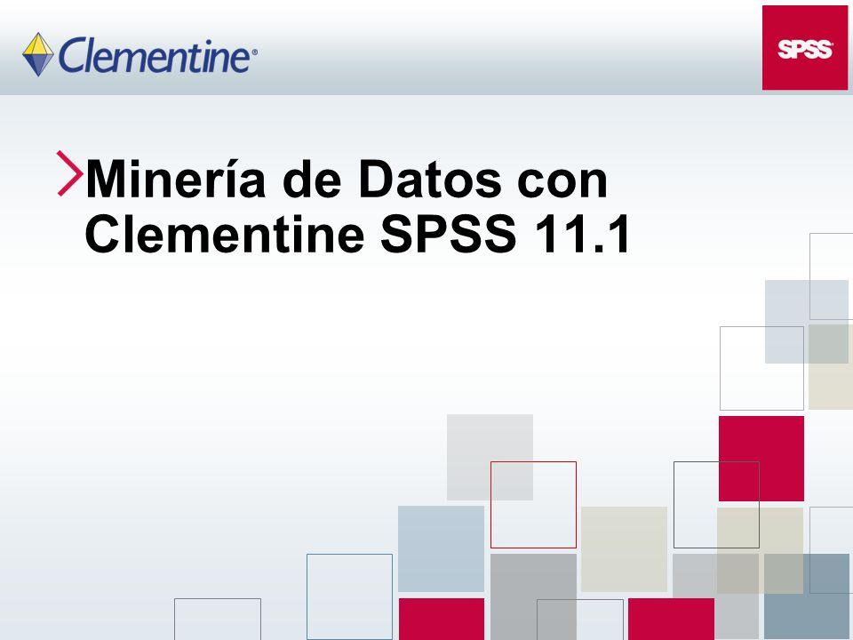 Minería de Datos con Clementine SPSS 11.1