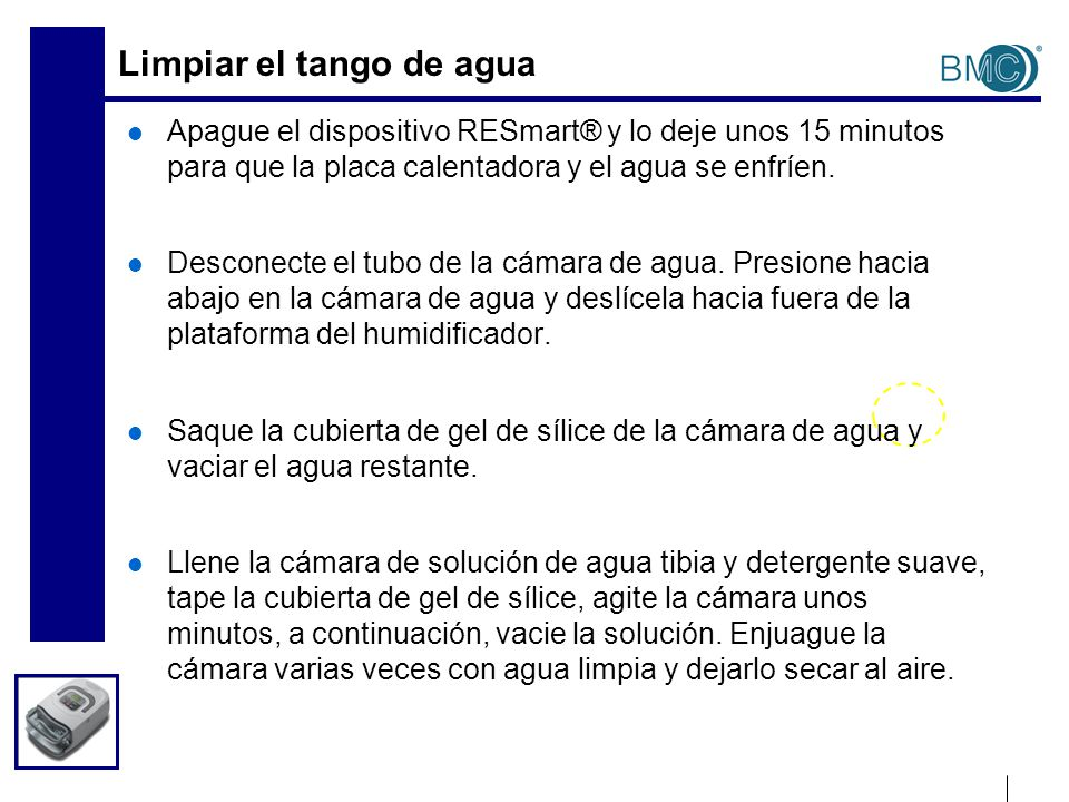Configuración de AutoCPAP Presión inicial de Ramp: Cuando enciende el equipo AutoCPAP, la presión que aparece en la pantalla es la presión inicial.