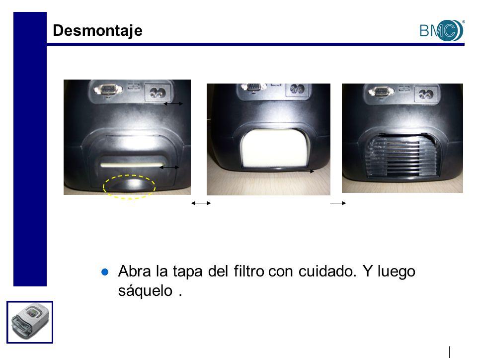 Configuración de AutoCPAP Entrar en el menú: 1) Apague el equipo AutoCPAP 2) Pulse y mantenga presionando el botón Encendido/Apagado y el botón Rampa juntos, luego conecte el cable de alimentación a la entrada de C.A.