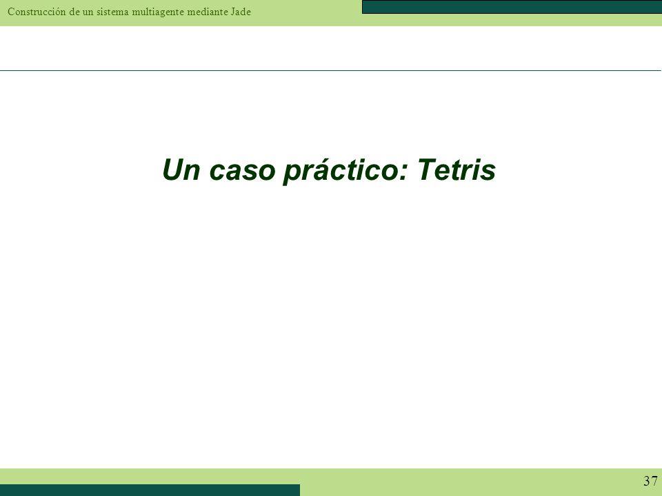 Construcción de un sistema multiagente mediante Jade 37 Un caso práctico: Tetris
