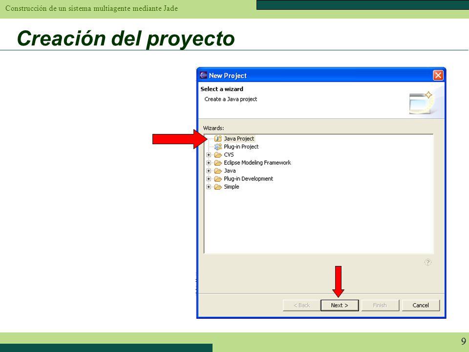 Construcción de un sistema multiagente mediante Jade 9 Creación del proyecto