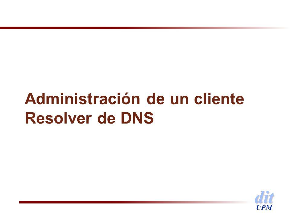 dit UPM Administración de un cliente Resolver de DNS
