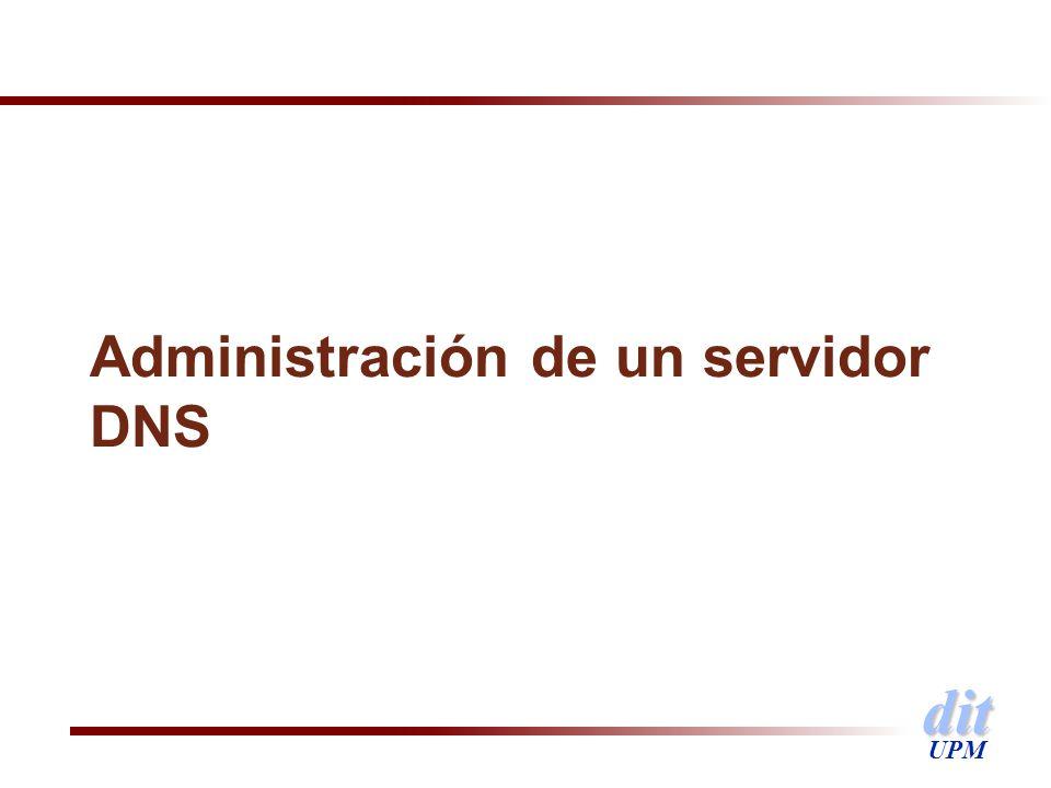 dit UPM Administración de un servidor DNS