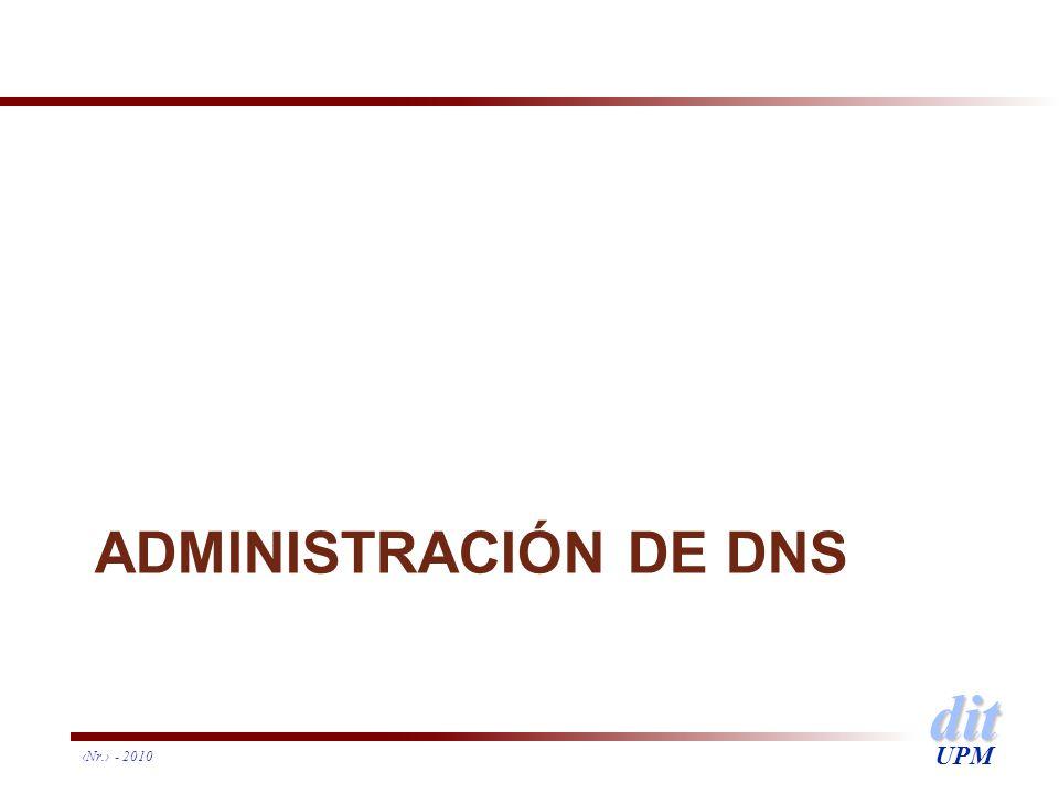 dit UPM ADMINISTRACIÓN DE DNS Nr. - 2010