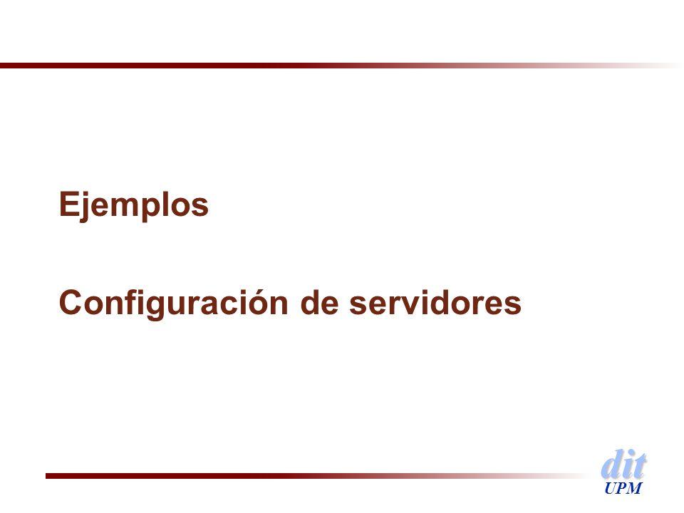 dit UPM Ejemplos Configuración de servidores