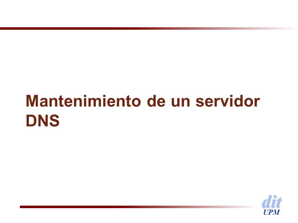 dit UPM Mantenimiento de un servidor DNS