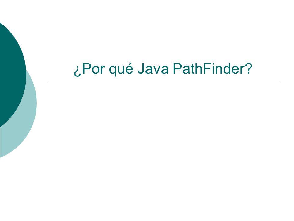 ¿Por qué Java PathFinder