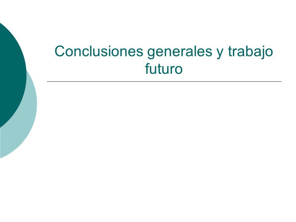 Conclusiones generales y trabajo futuro