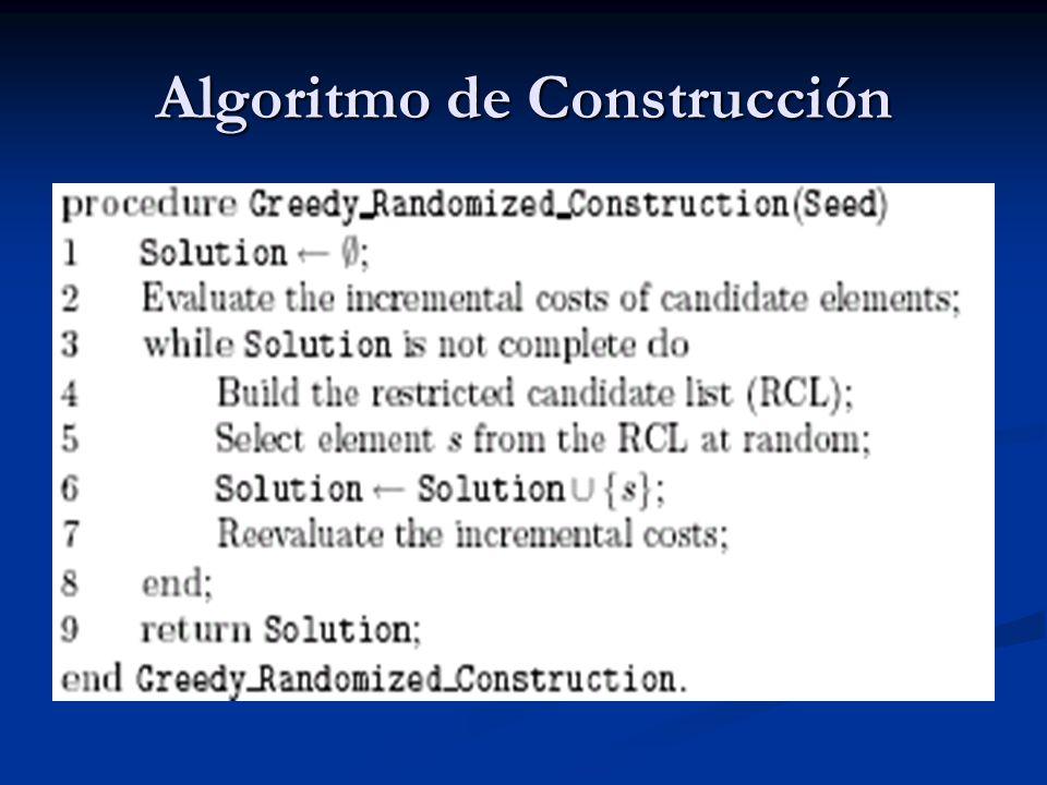 Algoritmo de Construcción