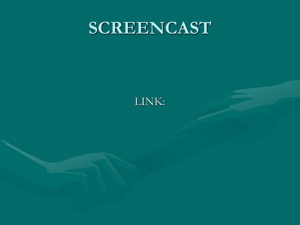 SCREENCAST LINK: