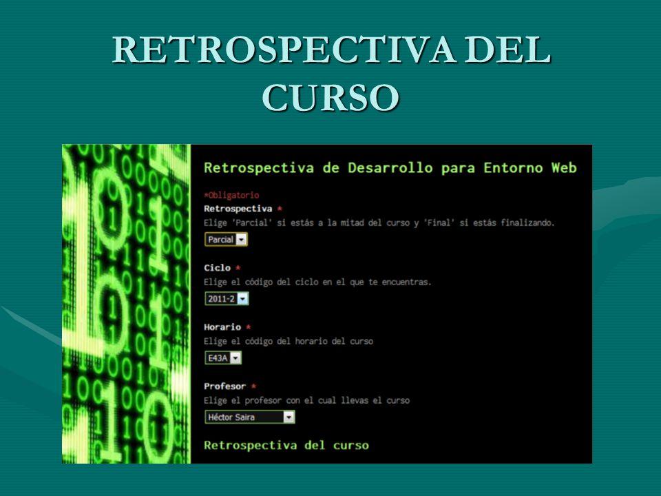 RETROSPECTIVA DEL CURSO