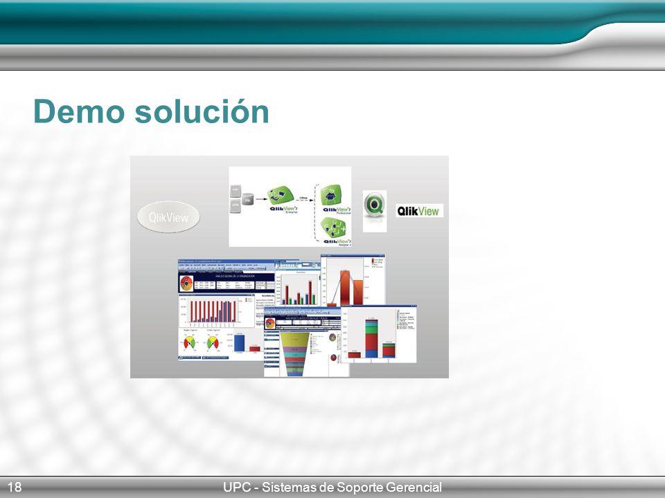 Demo solución UPC - Sistemas de Soporte Gerencial18