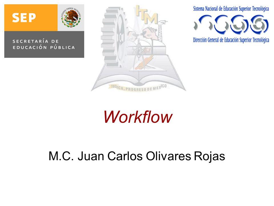 WorkFlow La automatización de un Proceso de Empresa, total o parcial, en la cual documentos, información o tareas son pasadas de un participante a otro a los efectos de su procesamiento, de acuerdo a un conjunto de reglas establecidas WFMC (WorkFlow Management Coalition)