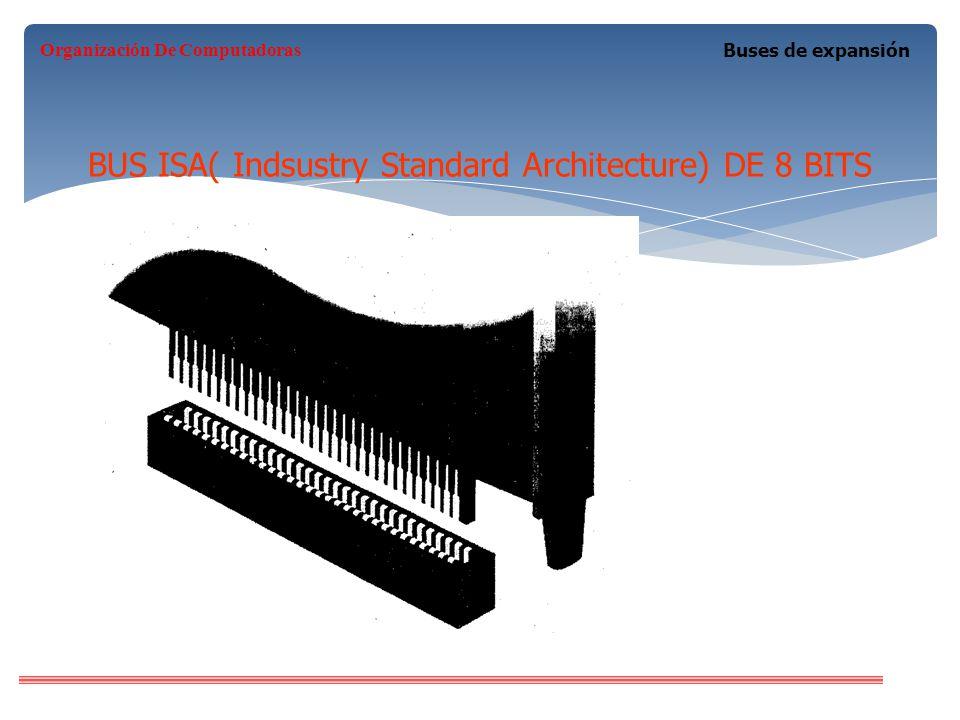 BUS ISA( Indsustry Standard Architecture) DE 8 BITS Buses de expansión Organización De Computadoras