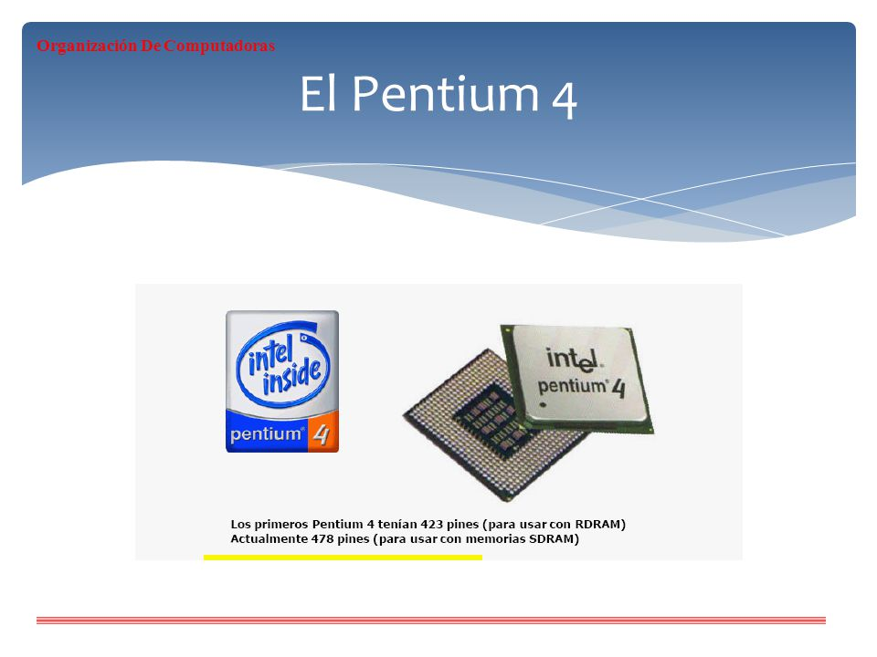 El Pentium 4 Organización De Computadoras