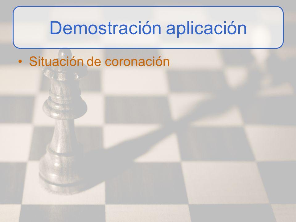 Demostración aplicación Situación de coronación
